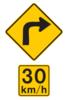 curve advisory sign
