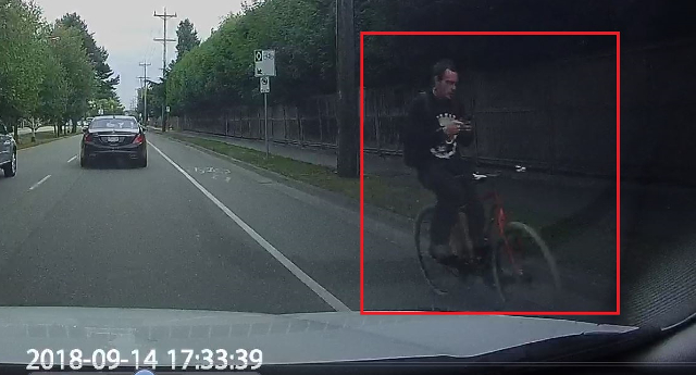 distracted cyclist