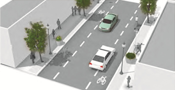 advisory cycle lanes