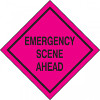 Emergency Scene Ahead Sign