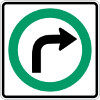 right turn permitted sign