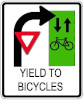 Yield to Bicycles Sign