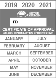inspection approval decal