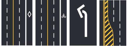 other highway marking examples