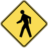 Pedestrian Caution Sign