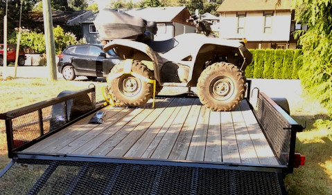 quad on trailer