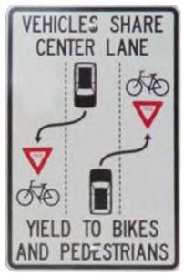advisory cycle lane sign