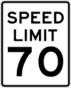 70 km/h Speed Sign